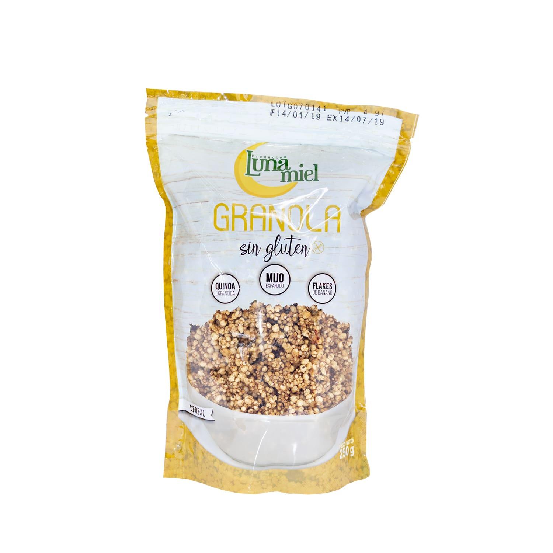 Granola sin gluten empaque